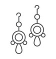 pair of earrings thin line icon jewellery and vector image vector image