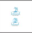 palm island logo design inspiration vector image vector image