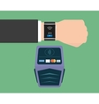 Payment via smart wristwatch vector image