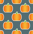pumpkin pattern Seamless texture with ripe vector image vector image