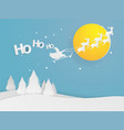 santa clause flying on sky vector image vector image