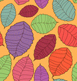Seamless pattern of leaves