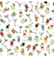 Seamless pattern with colorful drinks vector image vector image