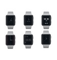 Set of electronic smart watches with different vector image vector image
