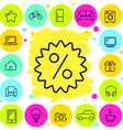 set of shop and discount icons vector image