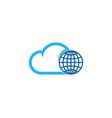 sky globe logo icon design vector image