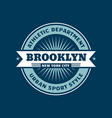 t-shirt badge - brooklyn new york city athletic vector image