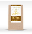 the original almond chocolate craft paper bag vector image vector image