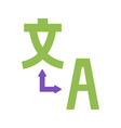 translator flat icons chinese and english vector image vector image