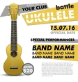 Ukulele show poster for your design battle live vector image