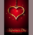 valentines day restaurant menu template vector image vector image
