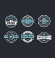 variety decorative badges set vector image vector image