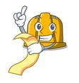with menu construction helmet mascot cartoon vector image