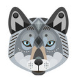 wolf head logo decorative emblem vector image
