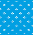 woman dress pattern seamless blue vector image vector image
