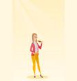woman measuring waist vector image vector image