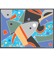Abstract background with fish motive vector image