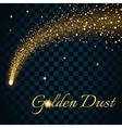 Golden sparkling falling star 2 transparent vector image