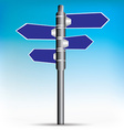 Blue direction road sign EPS10 vector image