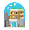 Shop front facade flat design vector image