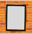 wooden frame red brick vector image