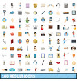 100 result icons set cartoon style vector image vector image