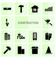 14 construction icons vector image vector image