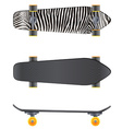 A top and side view of a skateboard vector image vector image