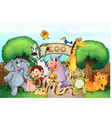 A zoo and the animals vector | Price: 3 Credits (USD $3)