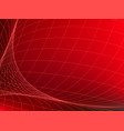 abstract red background with network curve lines vector image