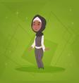 arab girl small cartoon character muslim female vector image