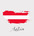 austria watercolor national country flag icon vector image vector image