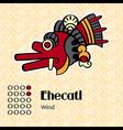 Aztec symbol Ehecatl vector image vector image