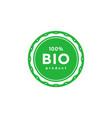 bio 100 percent product sticker design element vector image vector image