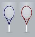 blue and red tennis racket vector image