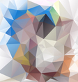 blue beige abstract polygon triangular pattern vector image vector image