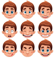 Boy Expressions vector image