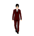 businessman in suit isolated vector image vector image