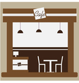 Cafe and shop facade vector image vector image