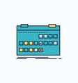 calendar date event release schedule flat icon vector image