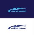 Car shape logo design vector image vector image