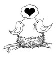 cartoon loving couple in love male and vector image