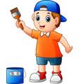 cartoon superhero boy vector image