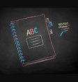 color chalk drawing school notebook vector image vector image