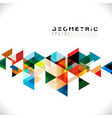 colorful geometric modern template for business vector image vector image
