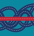 Correct way in confused road vector image