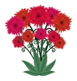 Flower bouquet fantastic floral bouquet vector image vector image