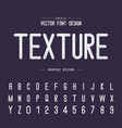 font and alphabet texture letter design vector image
