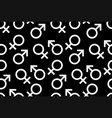gender seamless pattern vector image vector image