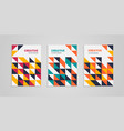 geometric colorful abstract covers set vector image vector image